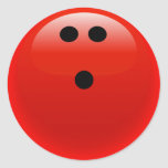Red Bowling Ball Stickers