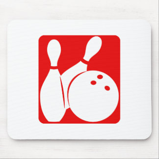 Red Bowling Mouse Pad