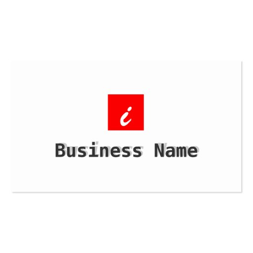 Red Box Apps developer Business Card