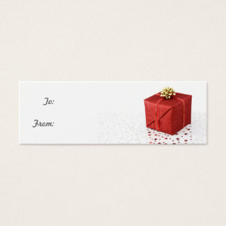 Red Box Gift Tag Business Card