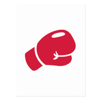 Red boxing glove postcards