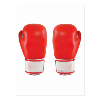 Red Boxing Gloves Postcards