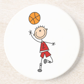 Red Boy Basketball Player t-shirts and Gifts Coaster