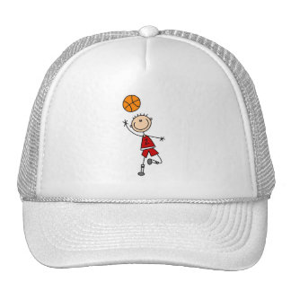 Red Boy Basketball Player t-shirts and Gifts Trucker Hat
