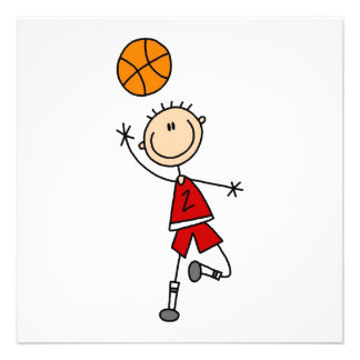 Red Boy Basketball Player t-shirts and Gifts Announcements