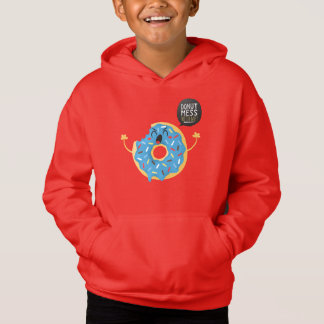Red Boys Hoodie Cool Donut Mess With Me