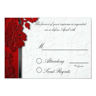 Red Break Through Reply Card Custom Invites