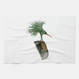 red breasted merganser, tony fernandes tea towel