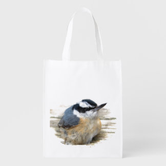 Red-breasted Nuthatch Reusable Grocery Bag