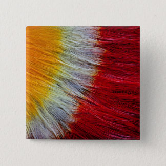 Red Breasted Toucan Feather Abstract 15 Cm Square Badge