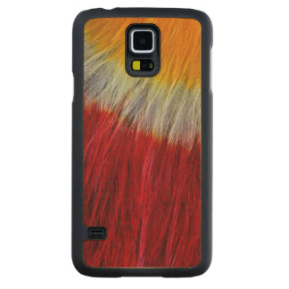 Red Breasted Toucan Feather Abstract Carved Maple Galaxy S5 Case