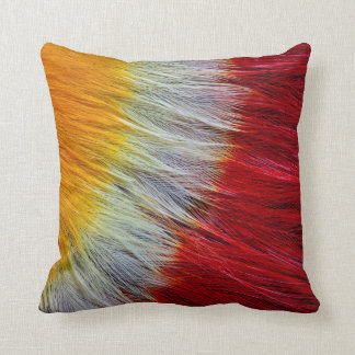 Red Breasted Toucan Feather Abstract Cushion