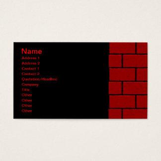 Custom Red Brick Business Cards Zazzle Co Uk