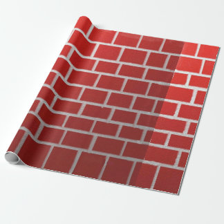Red brick chimney look wrapping paper