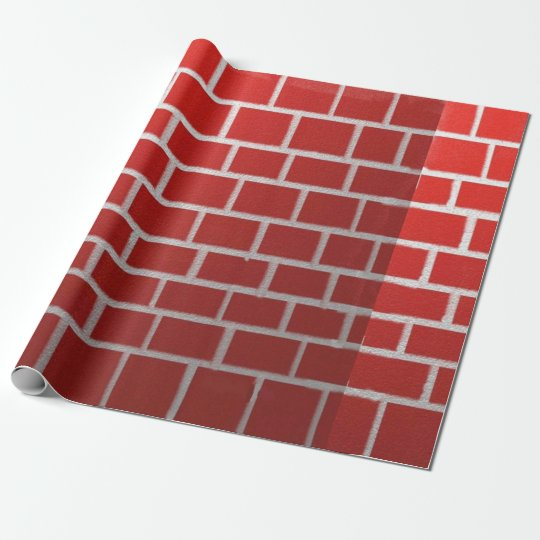Red Brick Chimney Look Wrapping Paper Zazzle Co Uk