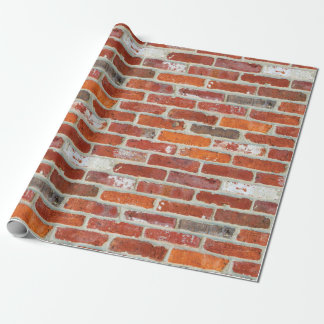 Red Brick Pattern Wrapping Paper