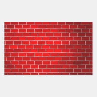 Red Brick w Spotlight Background Rectangle Sticker