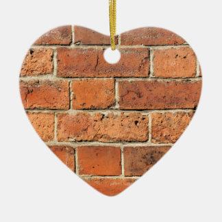 Red brick wall christmas ornament
