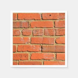 Red brick wall disposable napkins