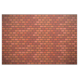 Red brick wall fabric