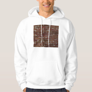 Red Brick Wall Hooded Pullover