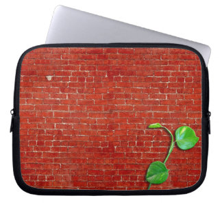 Red brick wall new life laptop sleeve