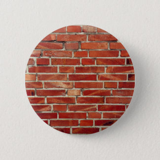 Red Brick Wall Texture 6 Cm Round Badge
