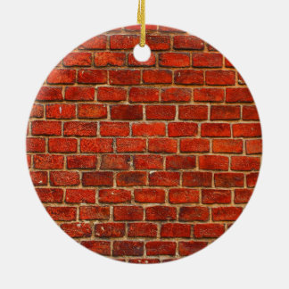 Red Brick Wall Texture Christmas Ornament