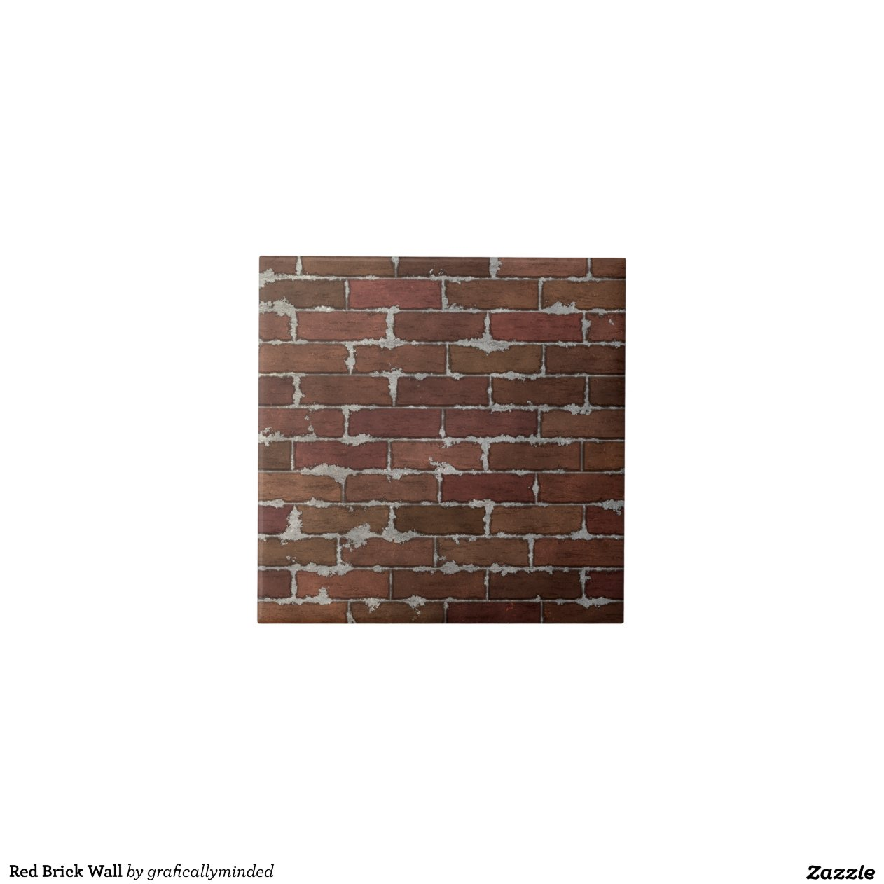 Red Brick Wall Tiles Zazzle