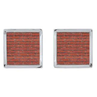 Red Brick Wall too ~ ~ Silver Finish Cufflinks
