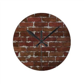 Red Brick Wall Wallclock
