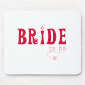Red Bride to Be Mouse Pad