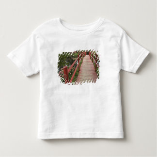 Red bridge over pond, Magnolia Plantation, Toddler T-Shirt