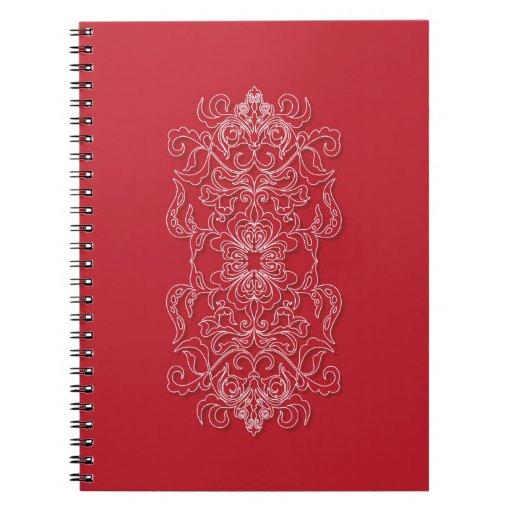 red bright rich decor spiral notebook