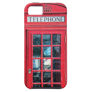 Red British Phone Booth from London iPhone 5 Cases