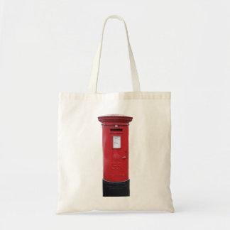 Red British Post box Budget Tote Bag