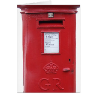Red British Post box Card