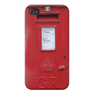 Red British Post box iPhone 4/4S Cases