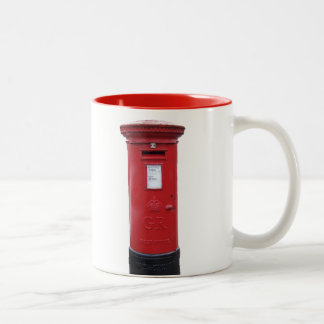 Red British Post box Two-Tone Coffee Mug