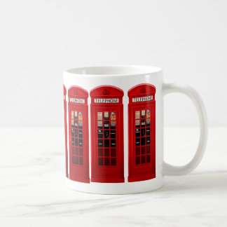 Red British Telephone Box Coffee Mug