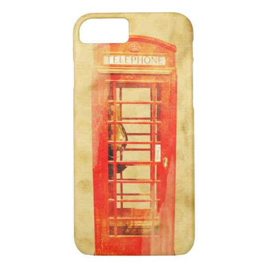 Red British telephone box iphone 7 case
