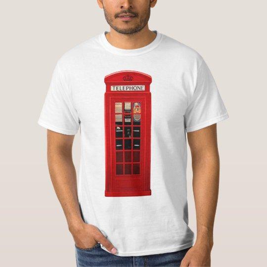 Red British Telephone Box T-Shirt