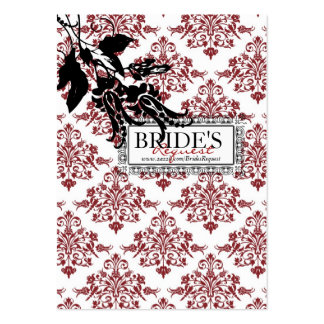 Red Brocade Business Card