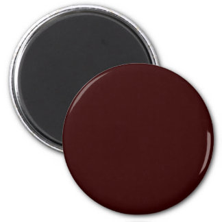 Red-Brown #330000 Solid Color 6 Cm Round Magnet