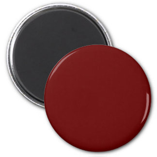 Red-Brown #660000 Solid Color 6 Cm Round Magnet