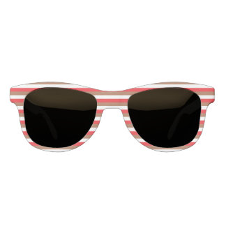 Red, Brown and White Stripes Sunglasses