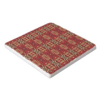 Red Brown Beige Orange Eclectic Ethnic Look Trivet