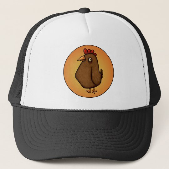 Red Brown Chicken Standing Tall Cap