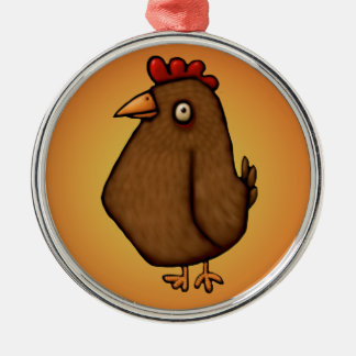 Red Brown Chicken Standing Tall Christmas Ornament