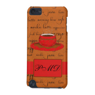 Red Brown Coffee Cup Art Script Words Background iPod Touch 5G Cover